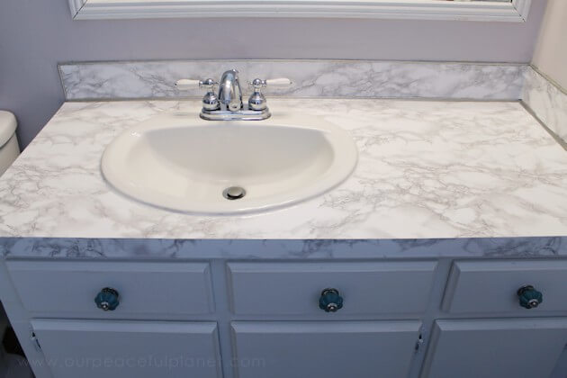 Countertop Cheap And Easy DIY Bathroom Ideas