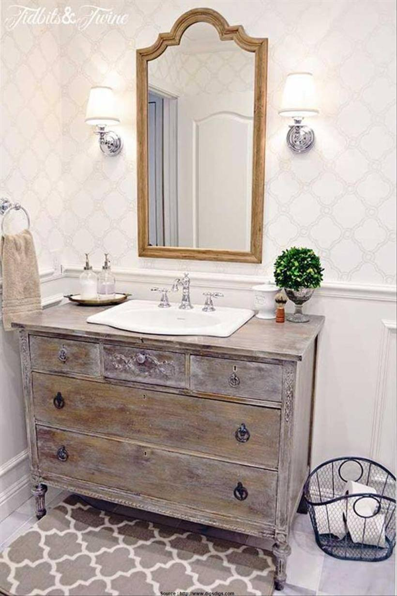 Make an Upcycled Dresser into a Vanity