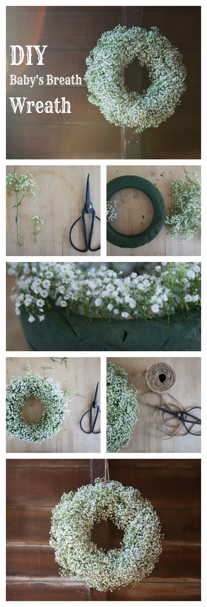 DIY Delicate Baby's Breath Wreath