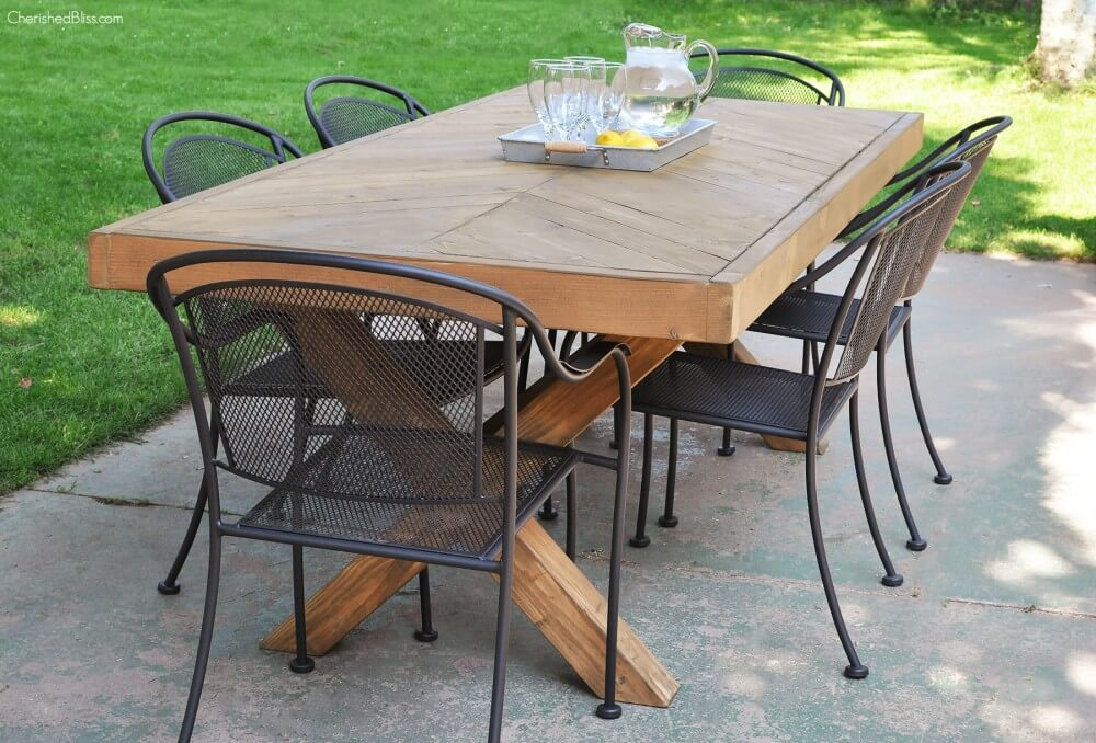 Deck-To-Dining Room Wooden Table