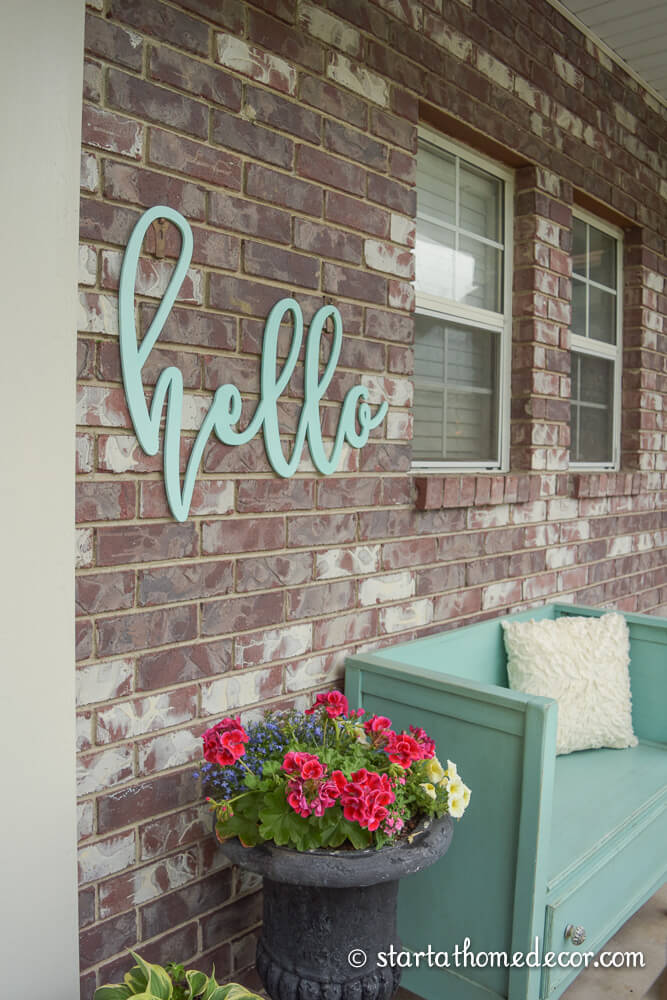 Hello Sign in Pretty Script Lettering