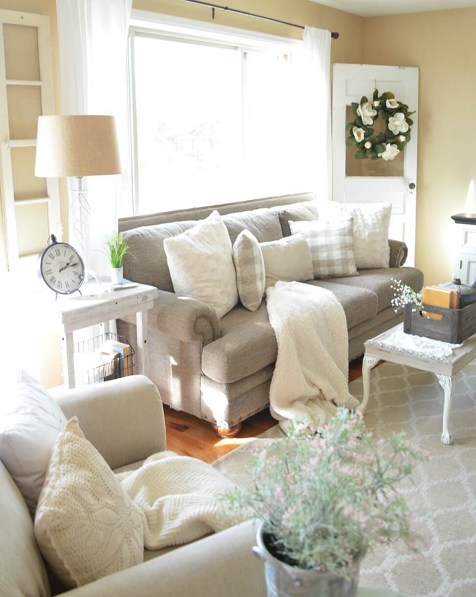 Elegant Cozy Farmhouse Style Living Space