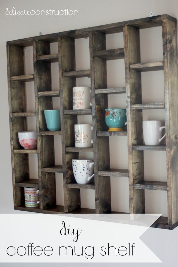 Weathered Look DIY Coffee Mug Holders