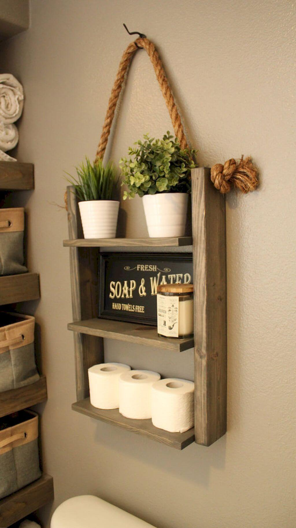 Bathroom Shelf Decorating Ideas