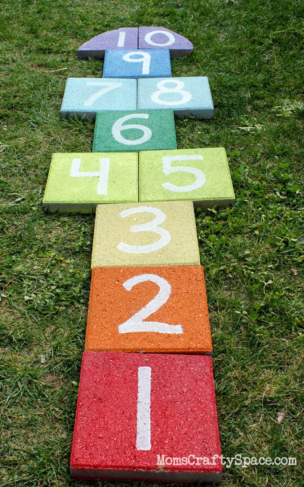 Rainbow Hopscotch Does Anyone Wanna Play