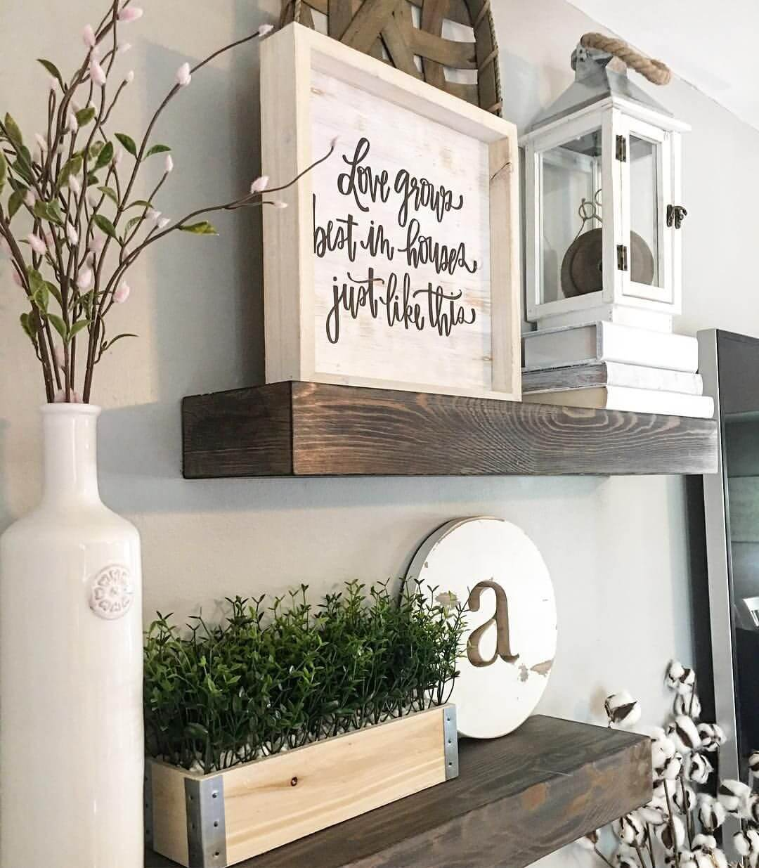 Kitchen Shelf Decor Ideas: 26 Best Farmhouse Shelf Decor Ideas And Designs For 2019