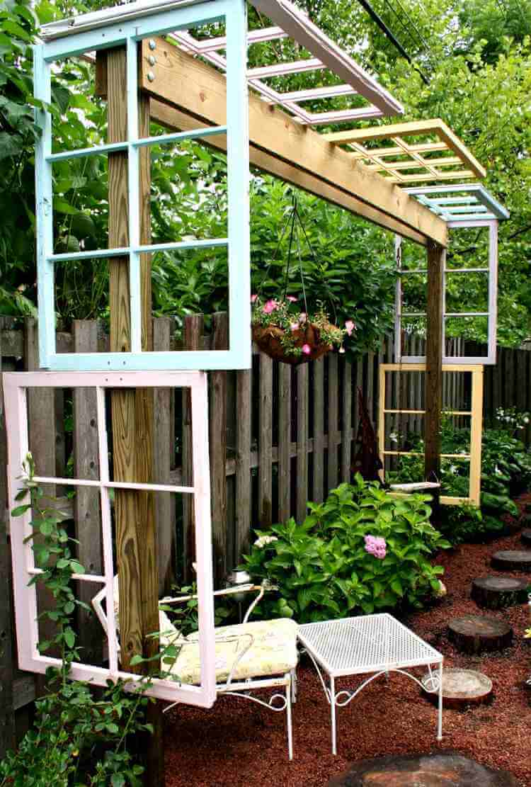 Decorate An Arbor With Window Frames