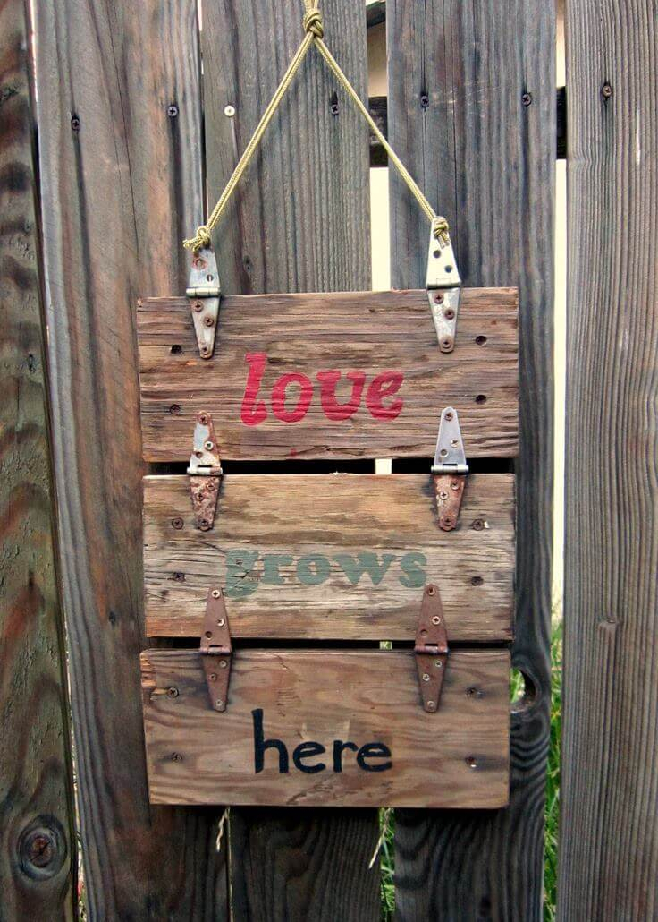 Hinged Wood Sign with a Lovely Saying