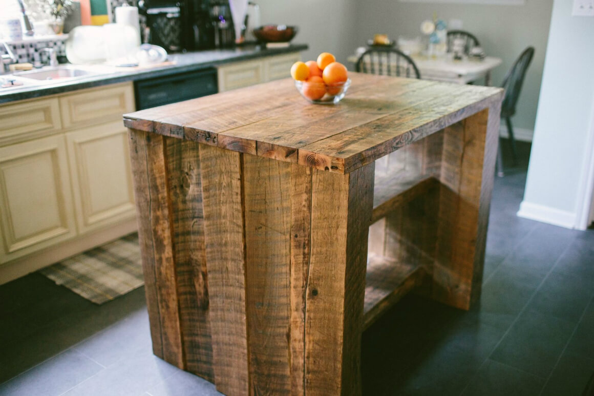 Farm Table in Rugged Lumber