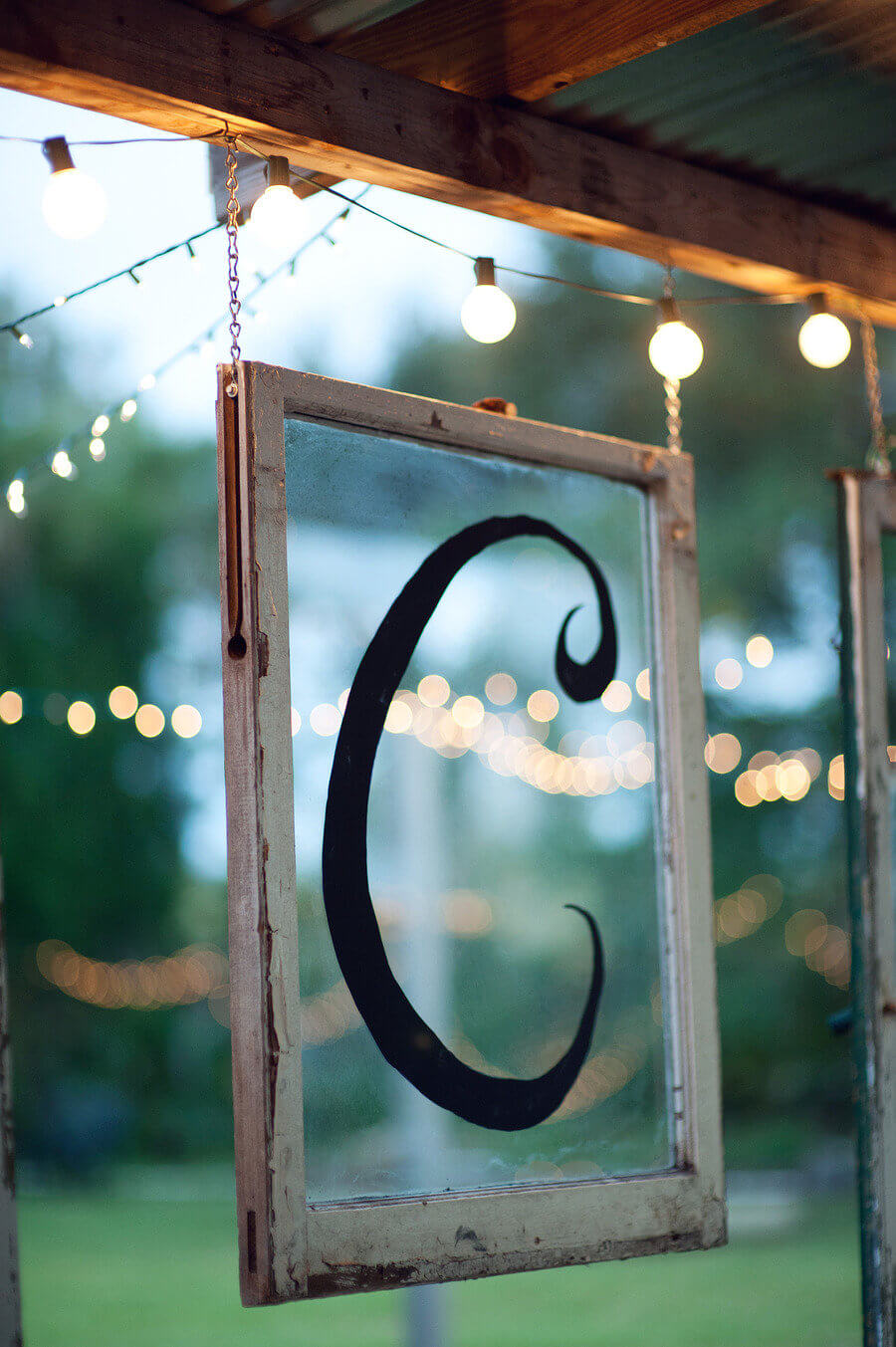 Paint a Pretty Initial on a Window