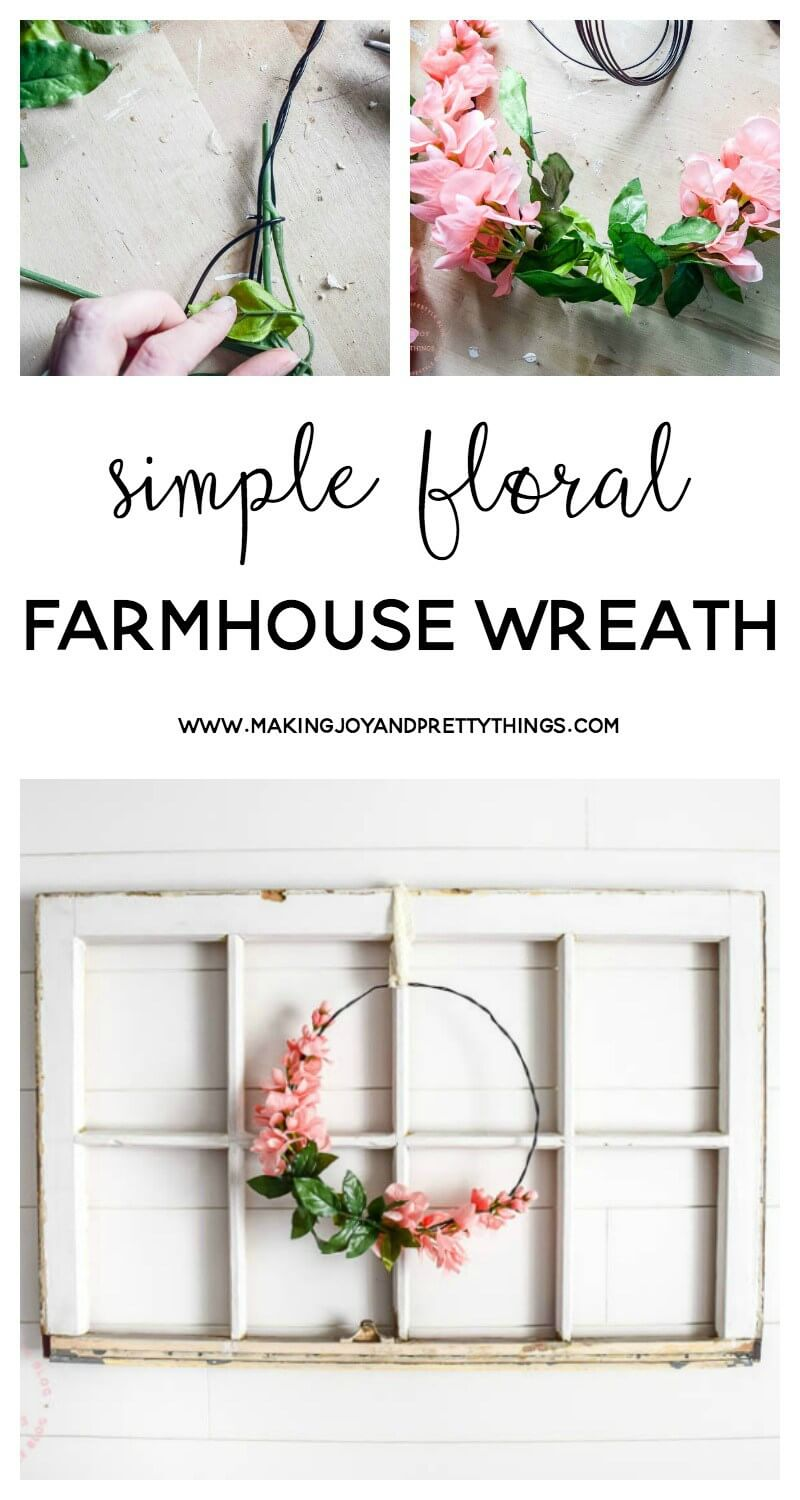 Rustic Farmhouse Wreath Idea with Blossoms