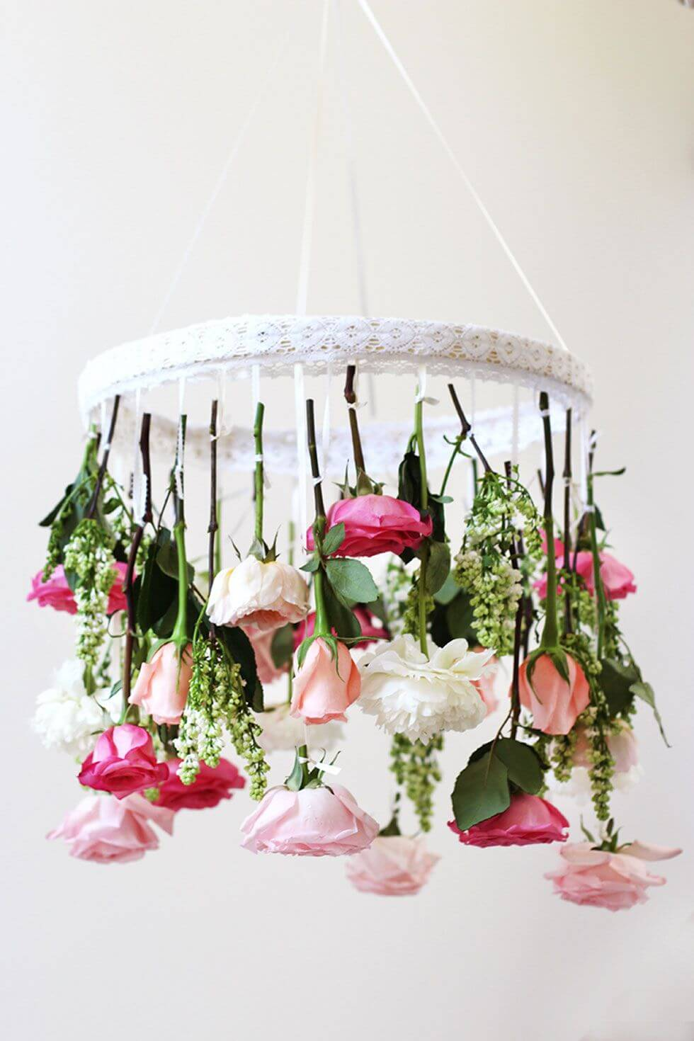 Breathtaking Hanging Floral Chandelier