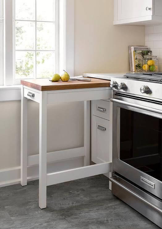 small kitchen decor idea with practical table - Kitchen Decor Idea