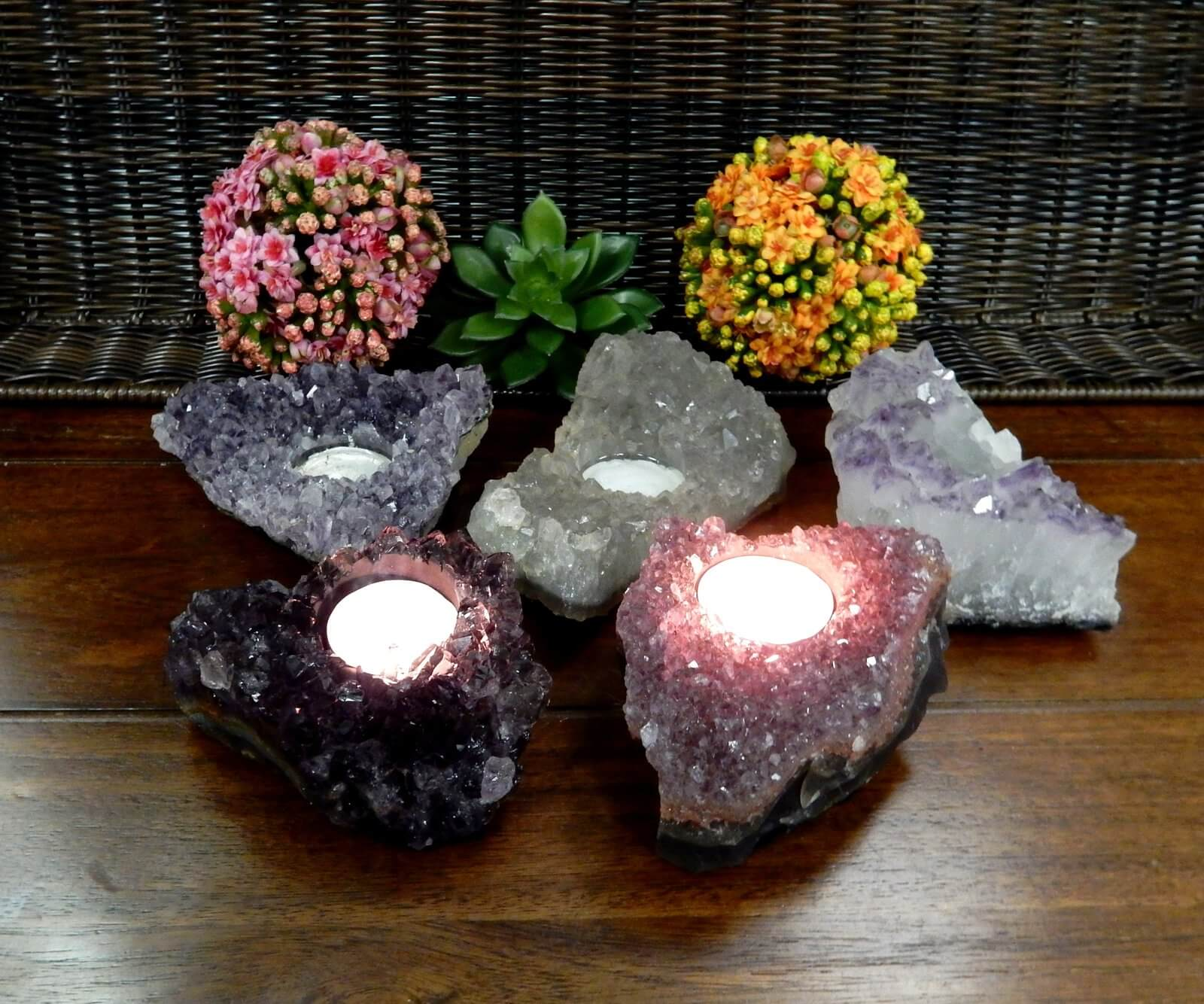 Grouped Flowers and Geodes Flickering