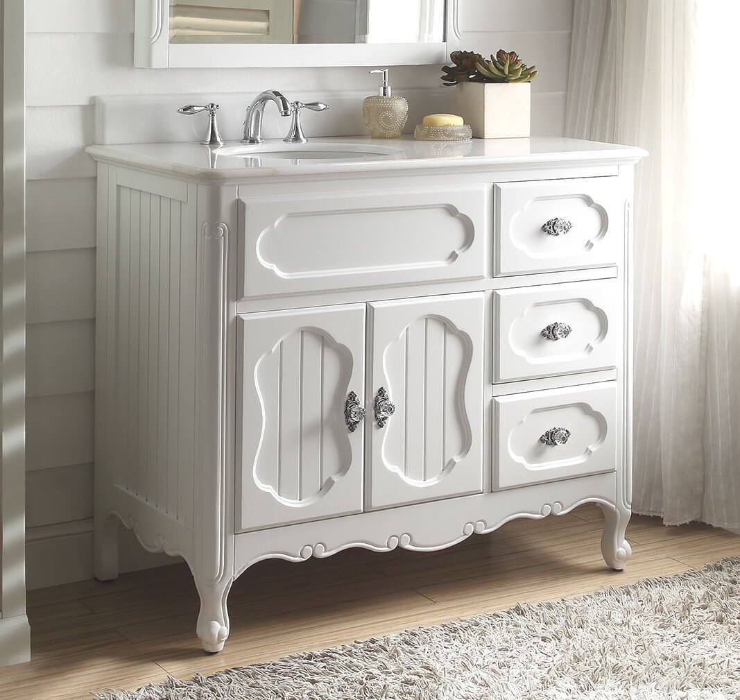 Beautiful White Cottage Style Vanity