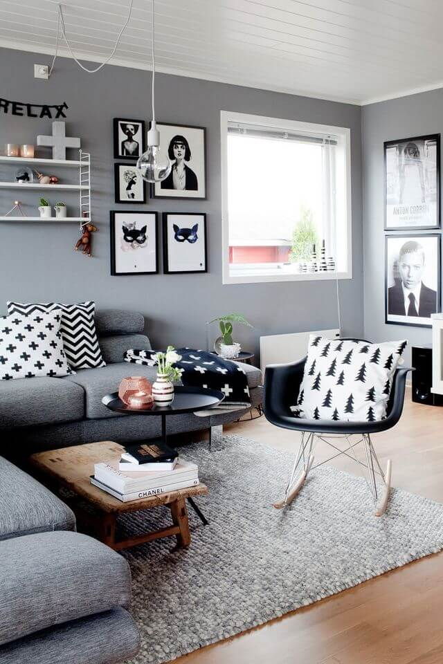 Black White And Gray Arrangement