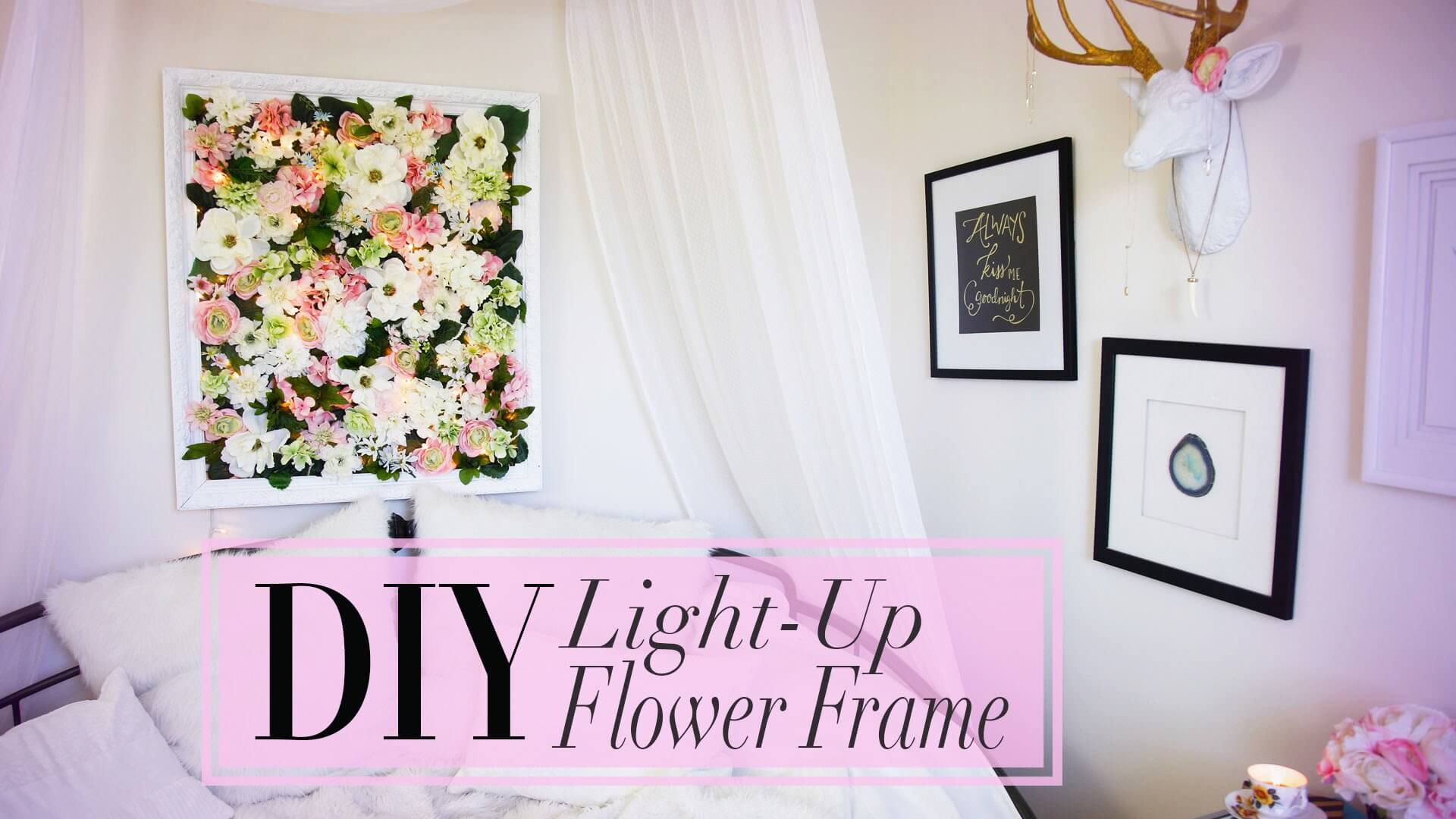 Classy and Easy Light-Up Flower Frame