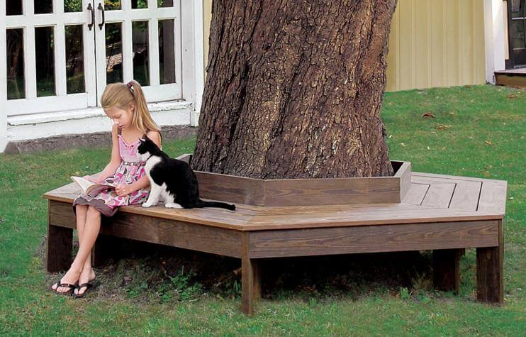 The Family's Tree DIY Circular Bench
