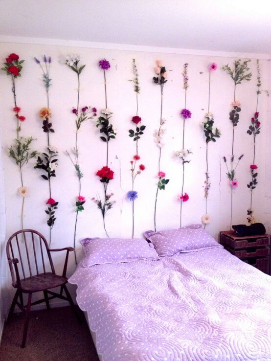 Colorful and Fresh Flower Wall Backdrop