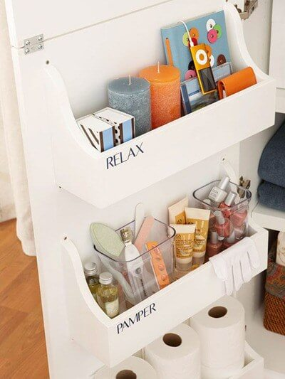 Cabinet Door Bathroom Storage Solution