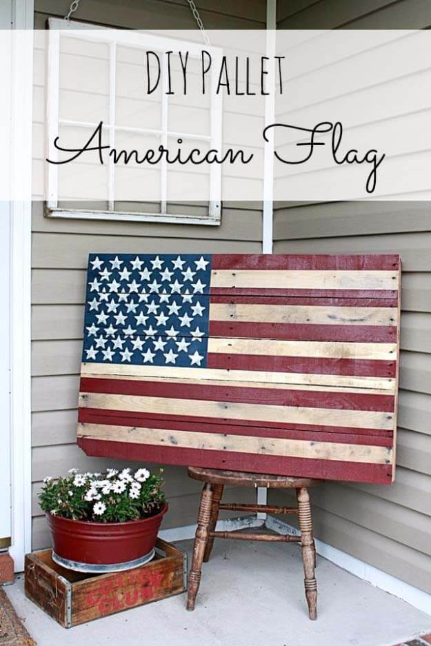 American Flag Gives Wood Pallet Patriotic Lift