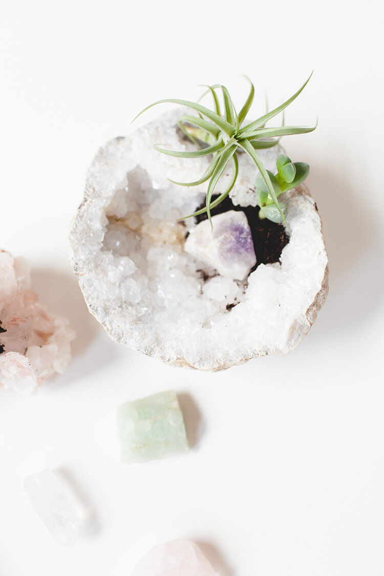 Solid Crystal with a Touch of Greenery