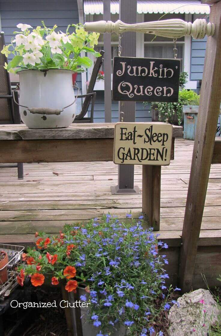 A Garden Sign with Personality