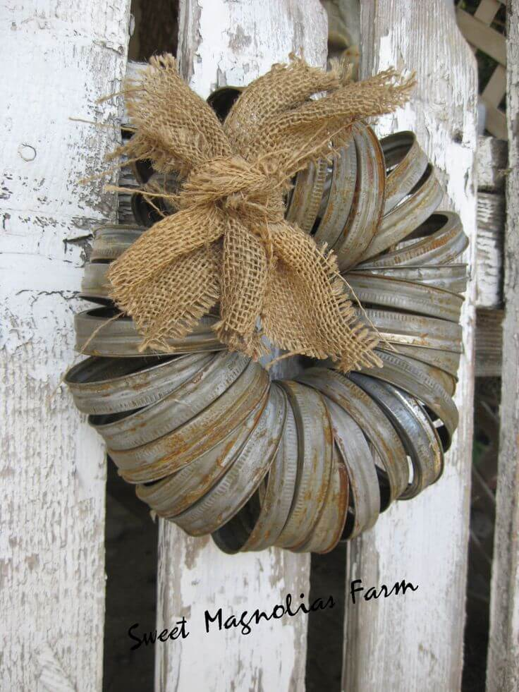 Unique Wreath Made with Metal Hoops