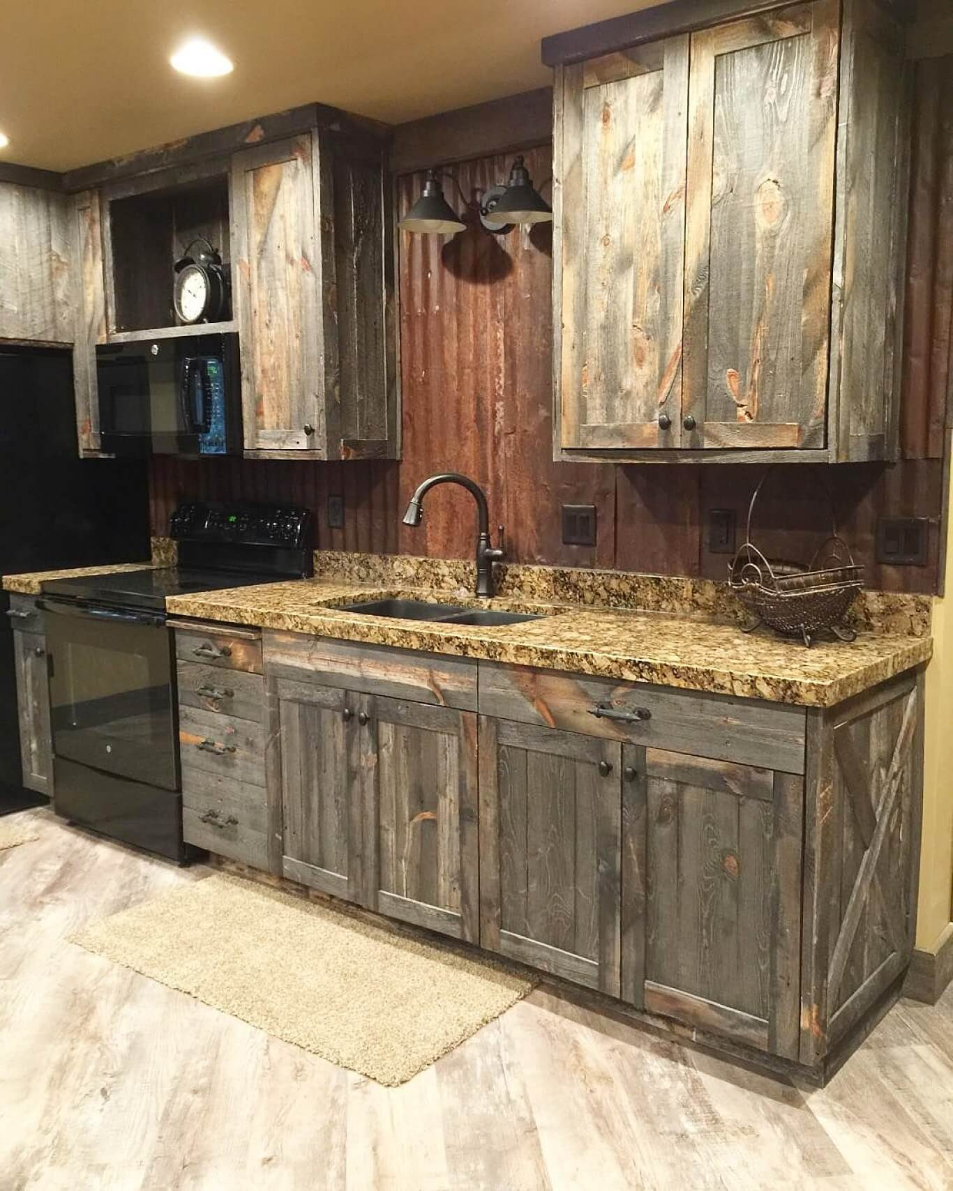 Distressed Reclaimed Wood Cabinetry