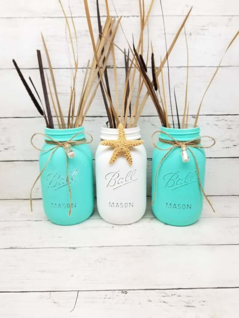 Message in a Bottle Sea Grass Jars
