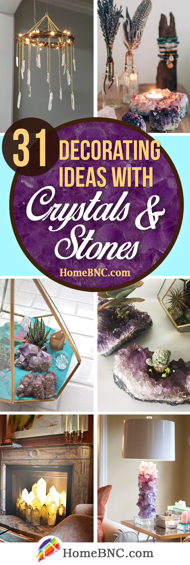 Design Ideas with Crystals and Stones