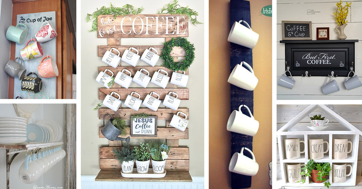 26 Fun DIY Coffee Mug Holders You Can Quickly Create on a Budget