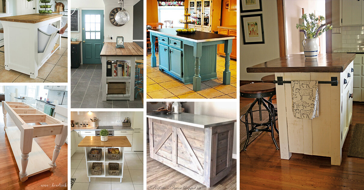 Charmant 23 Best DIY Kitchen Island Ideas And Designs For 2019