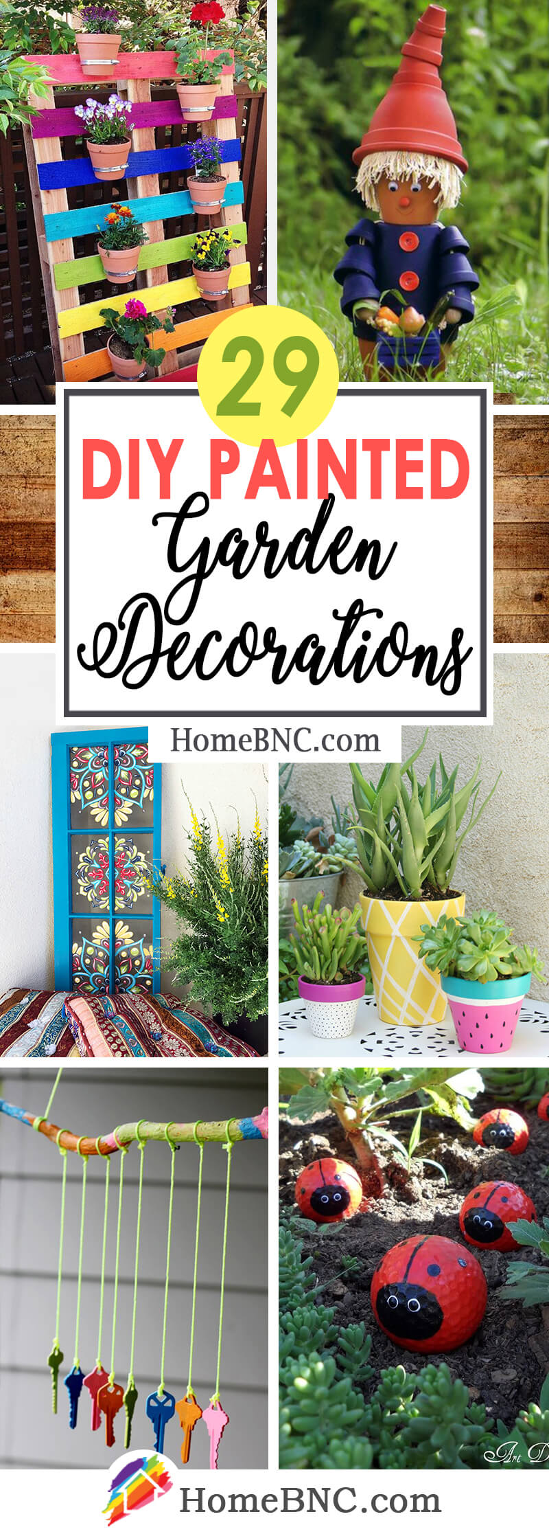 29 Best DIY Painted Garden Decoration Ideas and Designs for 2018