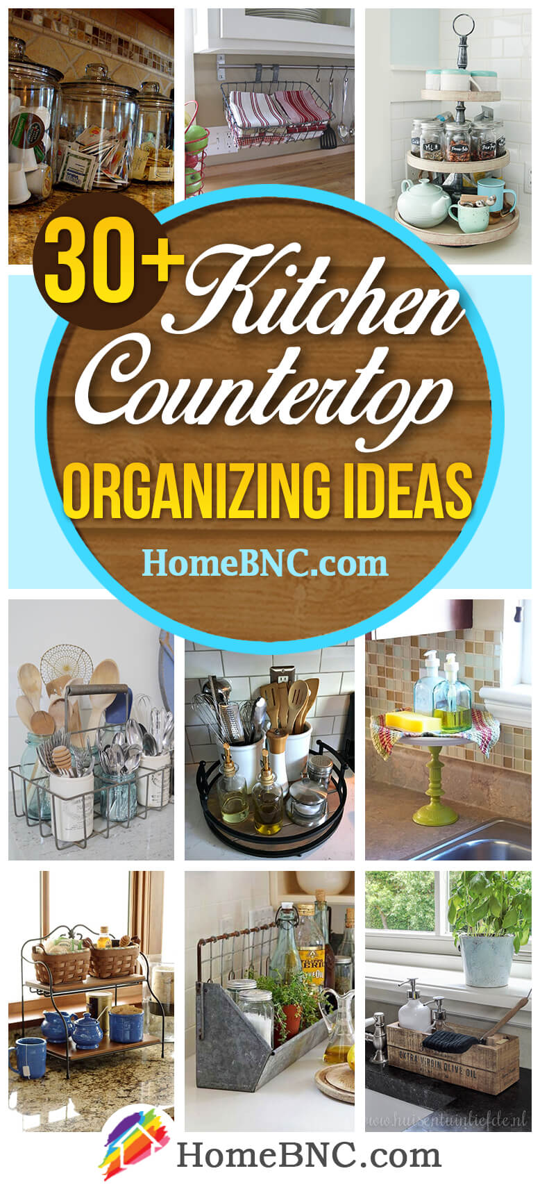 Kitchen Countertop Organizing Ideas