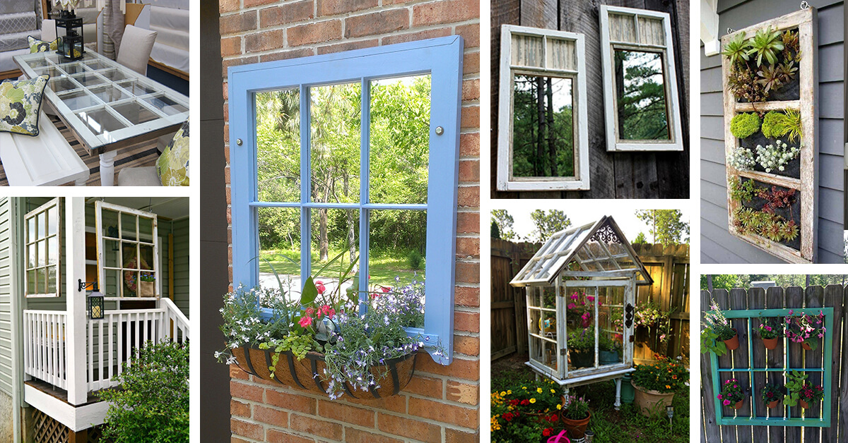 32 Best Old Window Outdoor Decor Ideas