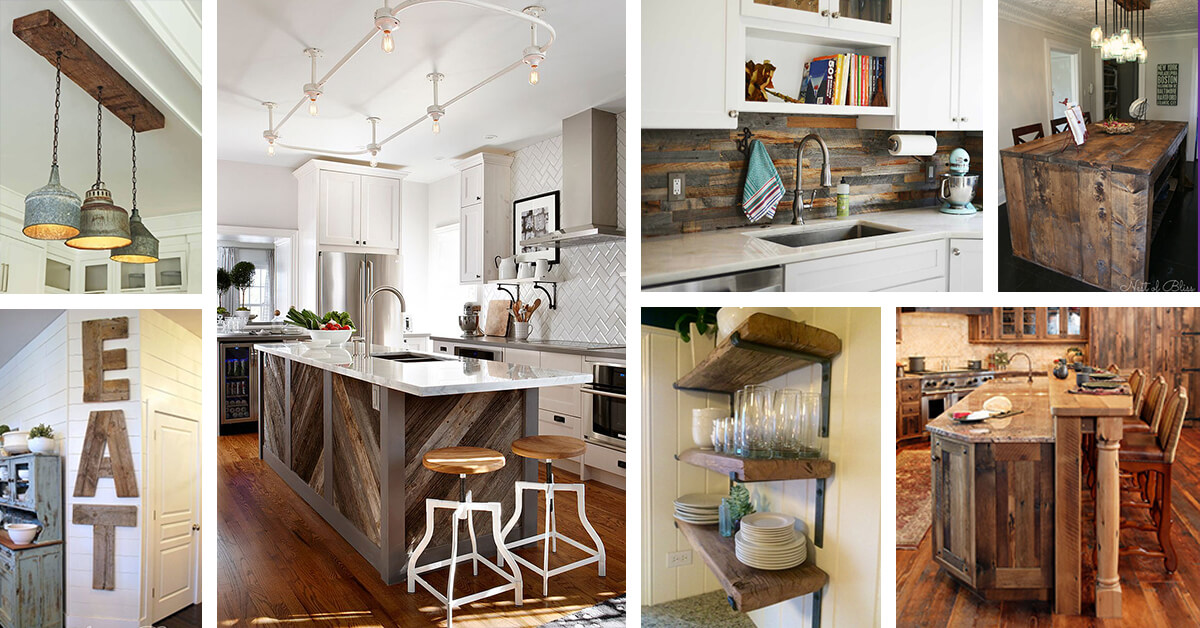 32 Best Ideas To Add Reclaimed Wood To Your Kitchen In 2021