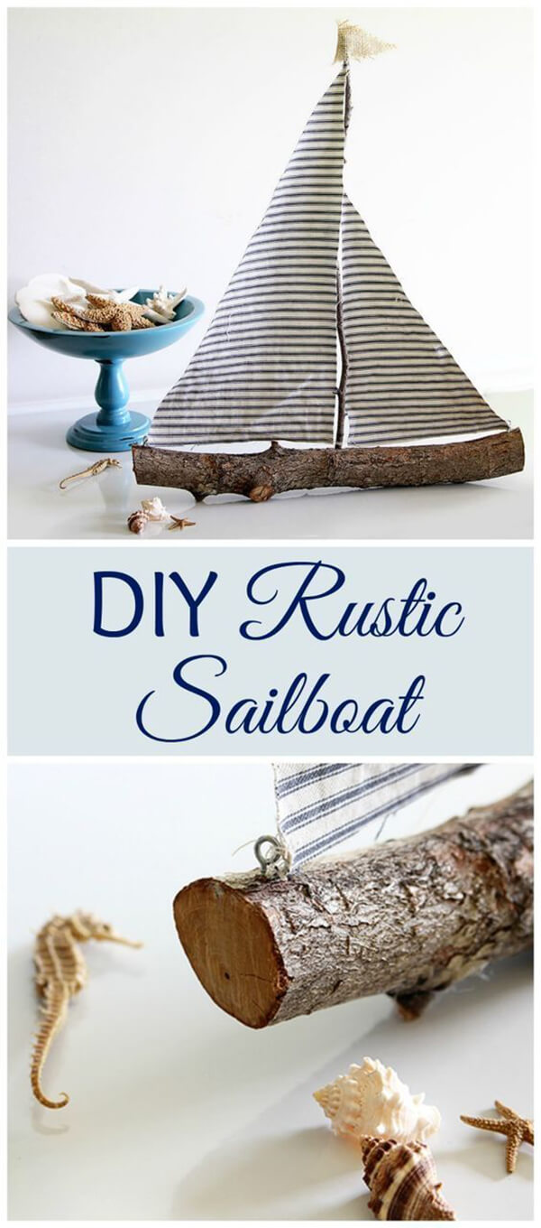 Make A Sailboat With Wood And Fabric