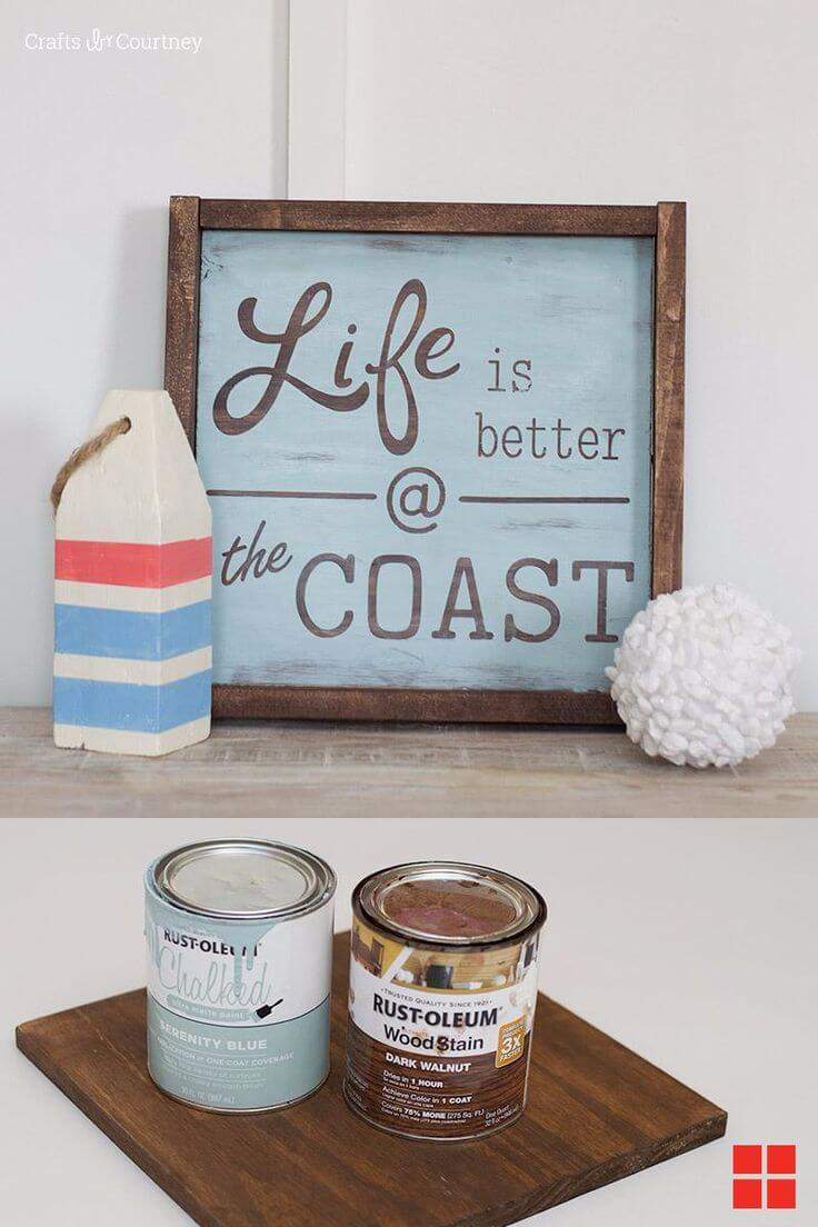 """Life is Better at the Coast"" Sign"