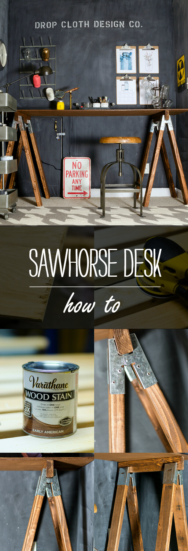 Make Your Own Desk with Sawhorses