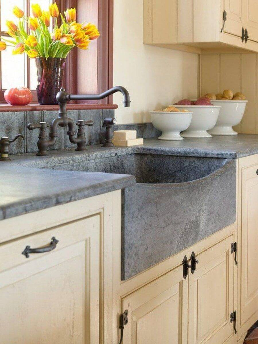26 Farmhouse Kitchen Sink Ideas and Designs for 2020 on Kitchen Sink Ideas  id=82669