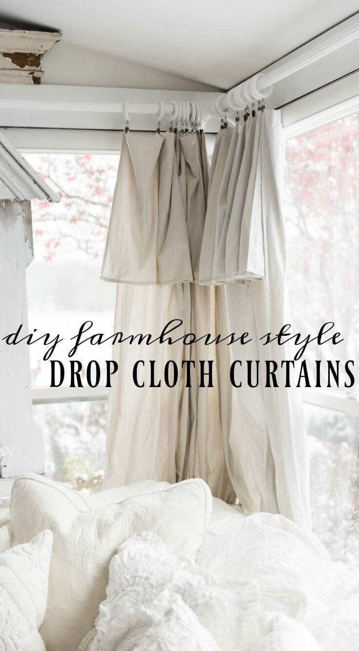 Make Your Own Drop Cloth Curtains
