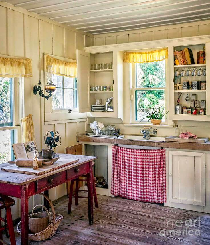 23 Best Cottage Kitchen Decorating Ideas And Designs For 2019: 24 Best Kitchen Cabinet Curtain Ideas And Designs For 2019