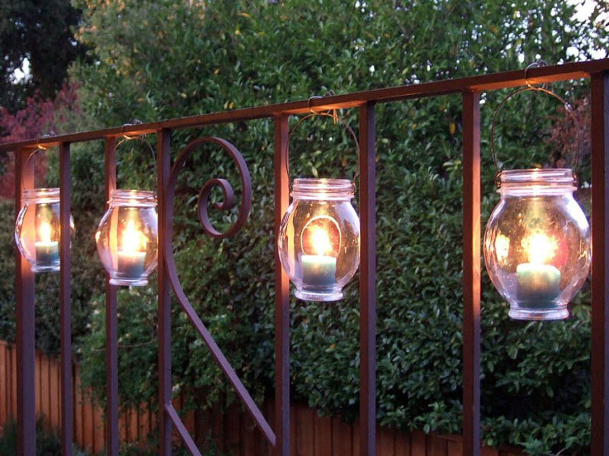 Delightful 4. Hang Charming Mason Jar Candle Lanterns