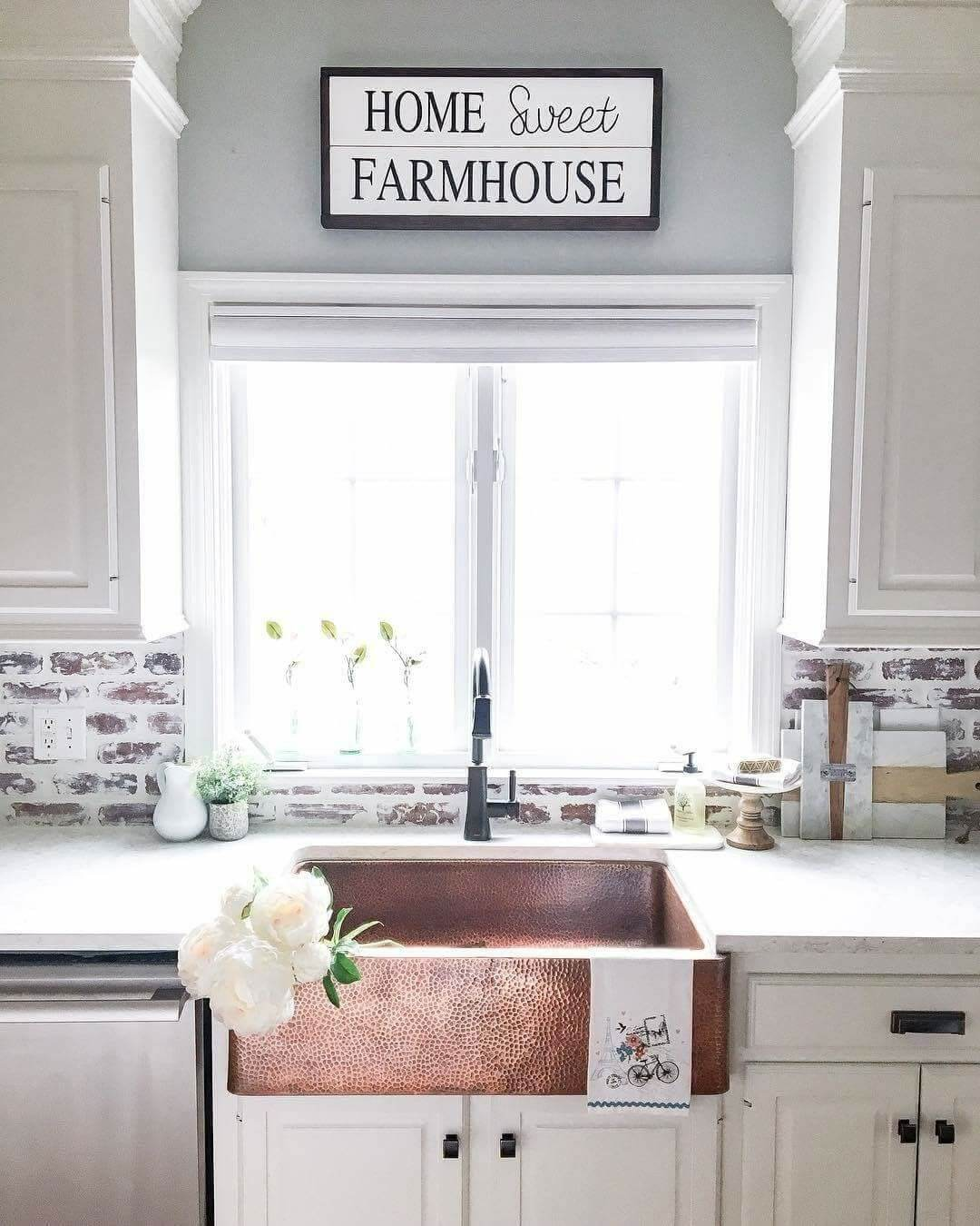 26 Farmhouse Kitchen Sink Ideas and Designs for 2020 on Kitchen Sink Ideas  id=33757