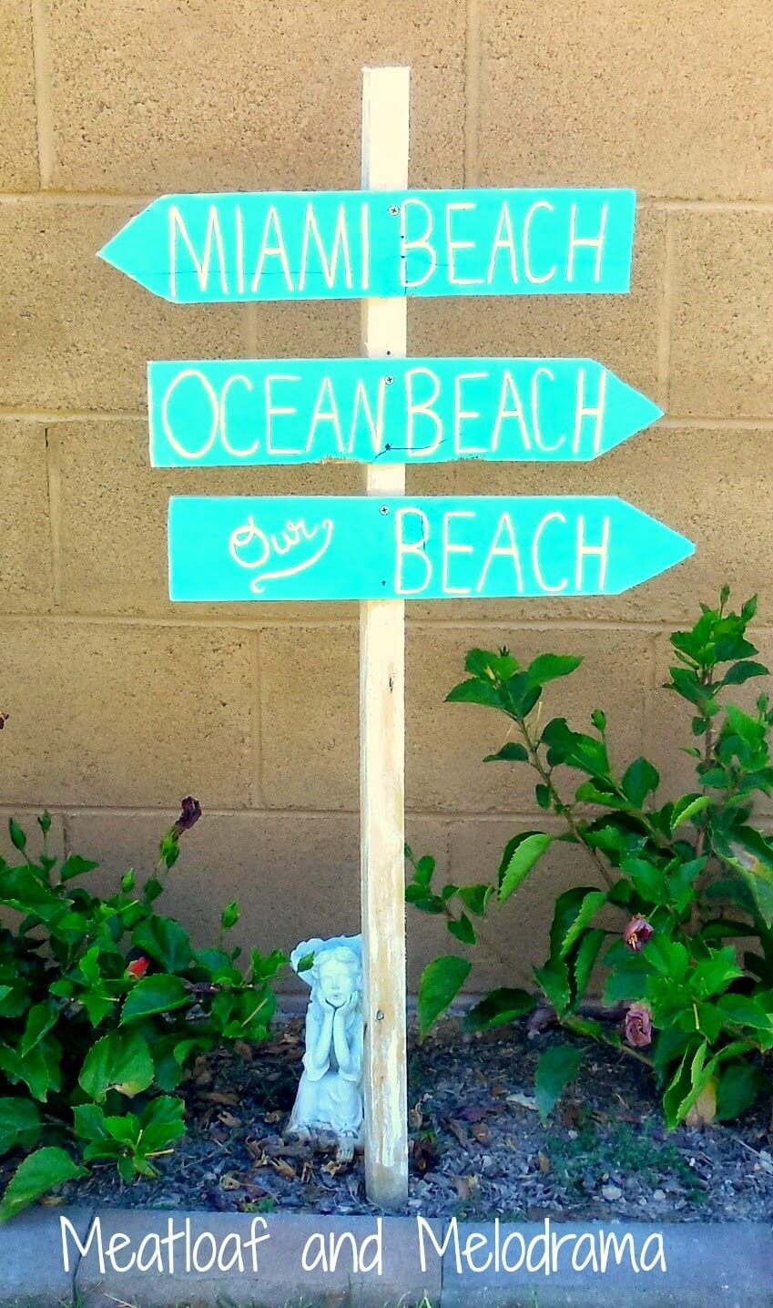 Which Way to the Beach? Sign