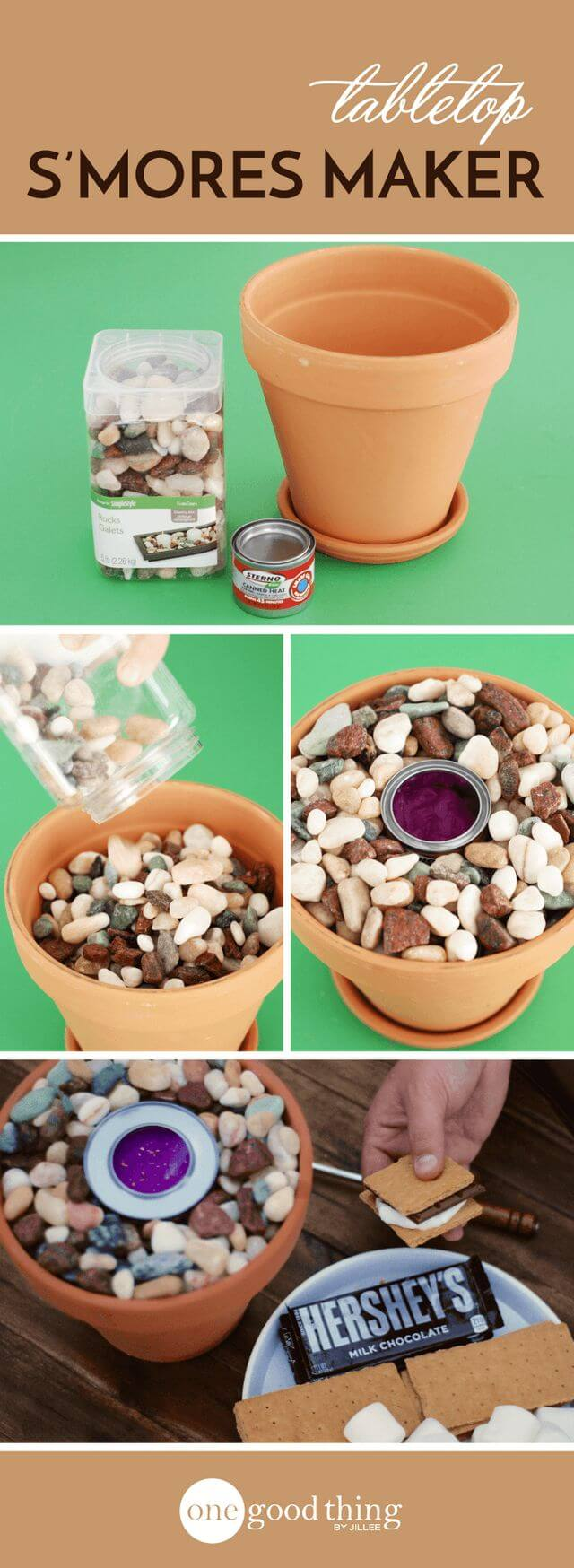 Make a Tiny Fire Pit for S'mores