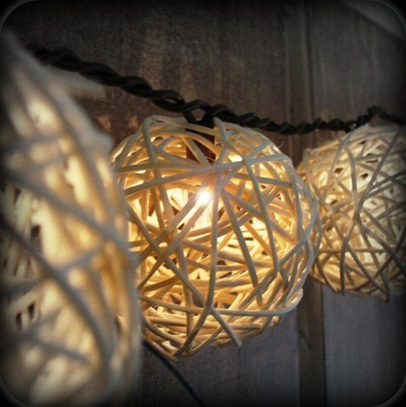 Surround a Globe Light with a Rope Sphere