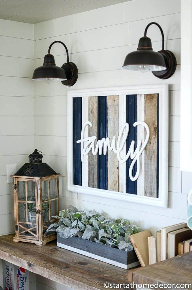 """Family"" Sign with Reclaimed Wood"