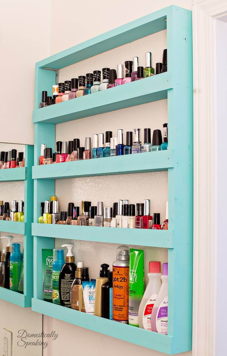 Low Profile Shelves for DIY Bathroom Storage